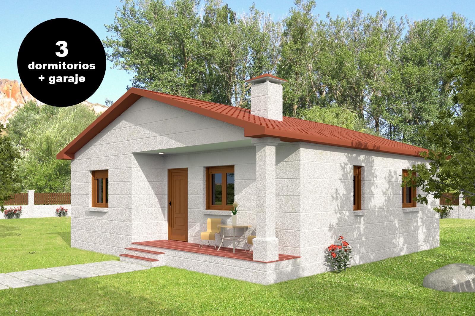 Parcelas y casas casa de piedra 3 dormitorios con garaje for Casa 3 dormitorios
