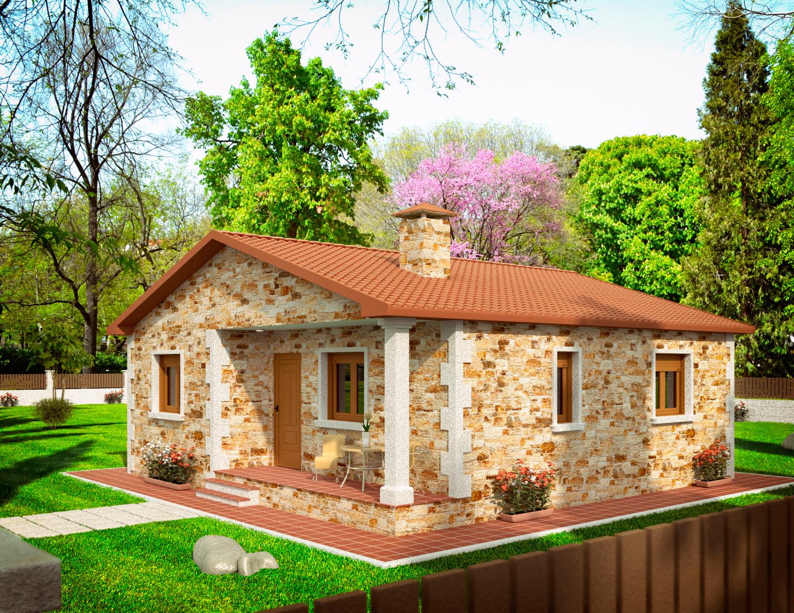 Parcelas y casas casa de piedra r stica - Casas de piedra rusticas ...
